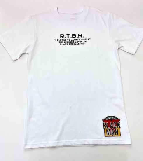 "RTBM Pledge T-Shirt (White) ""Juneteenth Collection"""