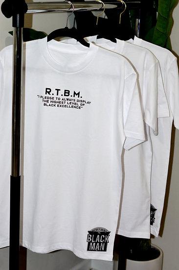 "Pledge ""MAN"" Patch T-Shirt (White)"