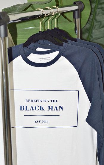 Redefining The BlackMan Baseball Shirt (Navy)