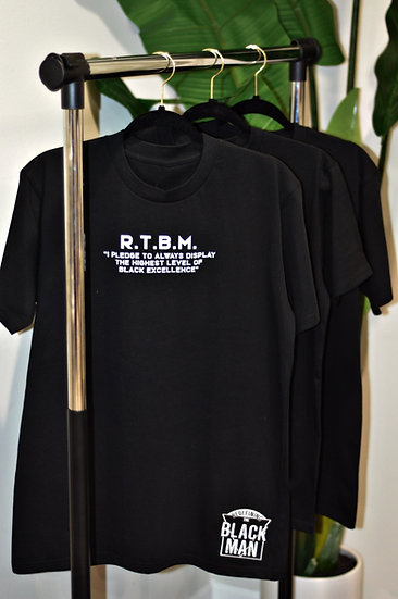 "Pledge ""MAN"" Patch T-Shirt (Black)"