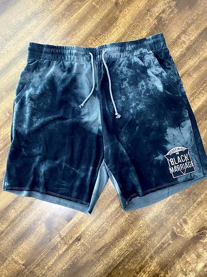 RTBM Grey Tie-Die Shorts