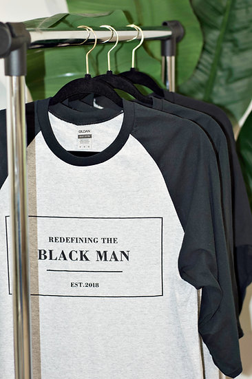 Redefining The BlackMan Baseball Shirt (Grey)