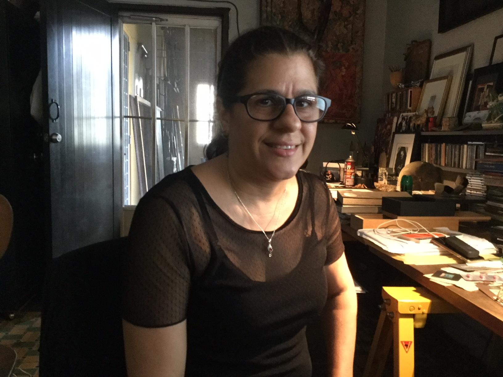 La artista Annex Burgos.