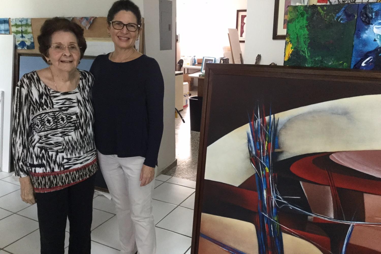 Noemí Ruiz y Lourdes Vadell