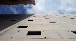 Off-form concrete facade