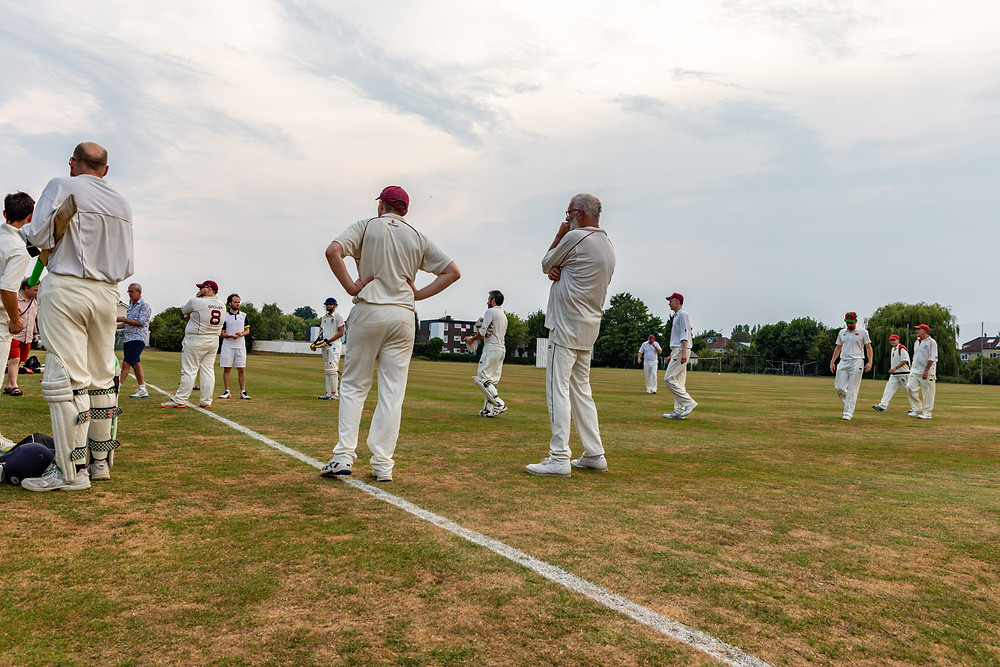 Traditionally the batting side line up to shake the hands of the fielding side whilst both sides appauld each other.