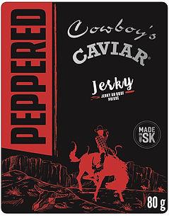 Cowboy's Caviar Peppered 80g Beef Jerky