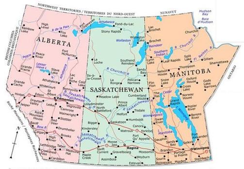 Alberta Saskatchewan Manitoba