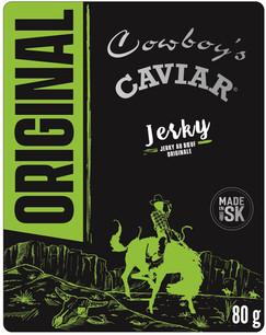 Cowboy's Caviar Original 80g Beef Jerky.