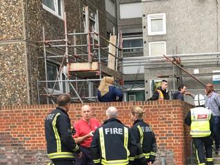 Residents temporarilyevacuated from Ledbury tower duringflat fire