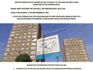 Ledbury residents organiseprotest over intolerable living conditions