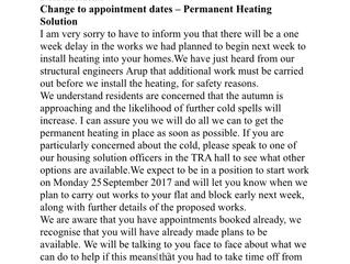 Southwark halt heating works amidst safety concerns