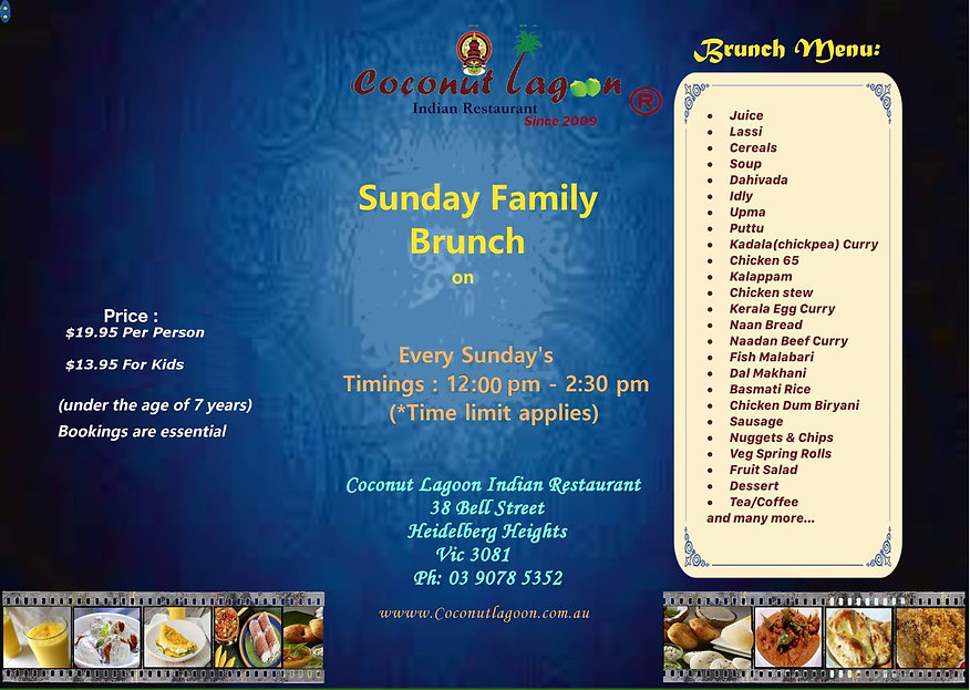 Sunday family branch, brunch