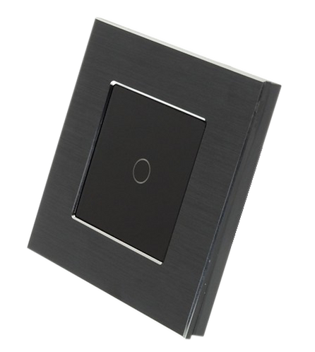 1 Gang Brushed Aluminium Smart Switch