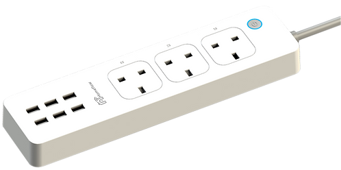 Smart Power Strip (3 x AC, 6 x USB)