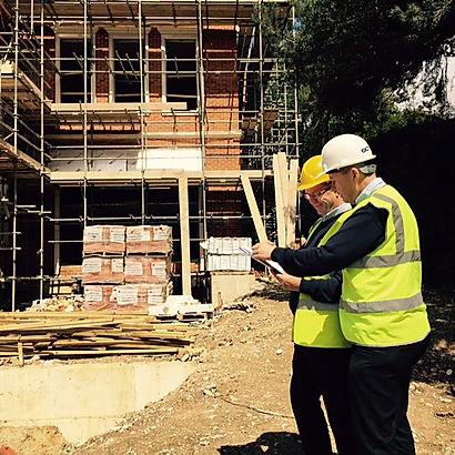 Experienced surveyors on site