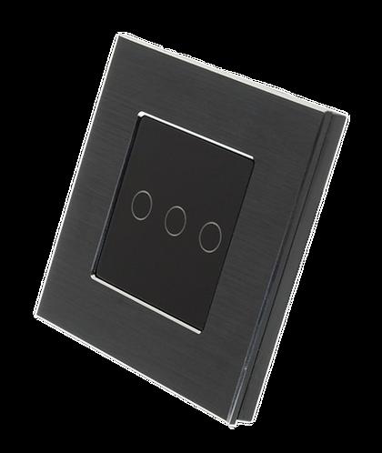3 Gang Brushed Aluminium Smart Switch