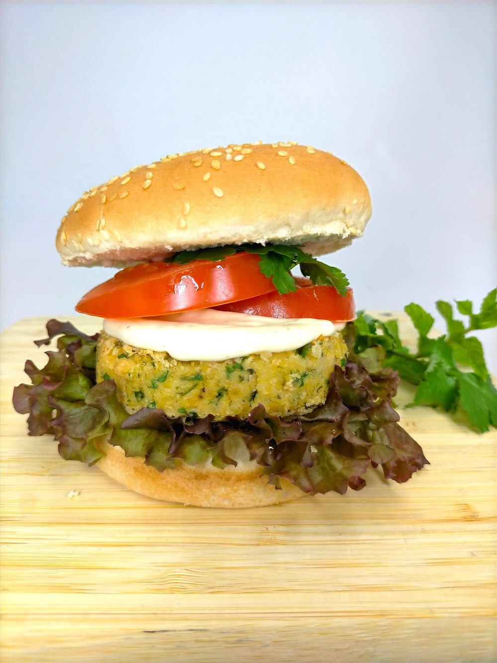 Smoked Vegan Aioli, Kumara and Black Bean Burger