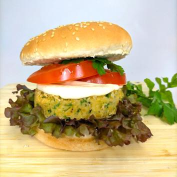 Kumara & Black Beans Burger