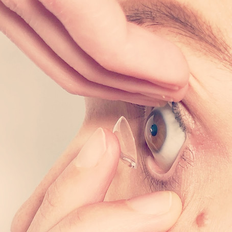 How can I tell if my contact lens is inside out?