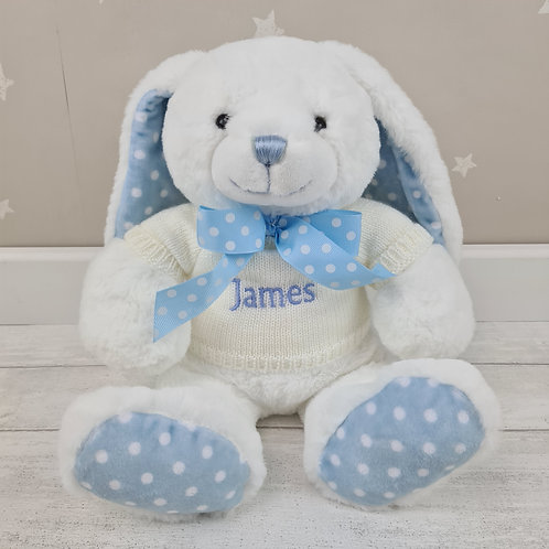 Personalised Crumble Bunny 25cm - Blue