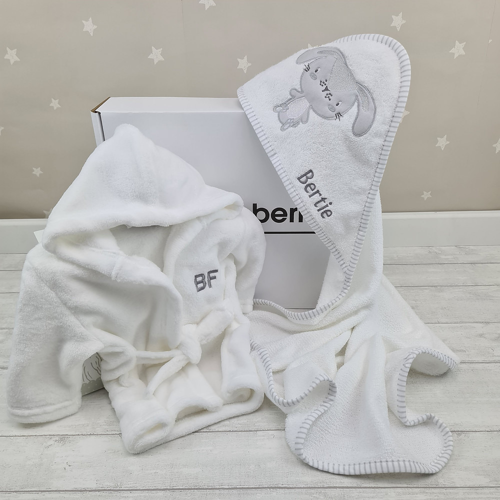 baby bath robe and hooded towel