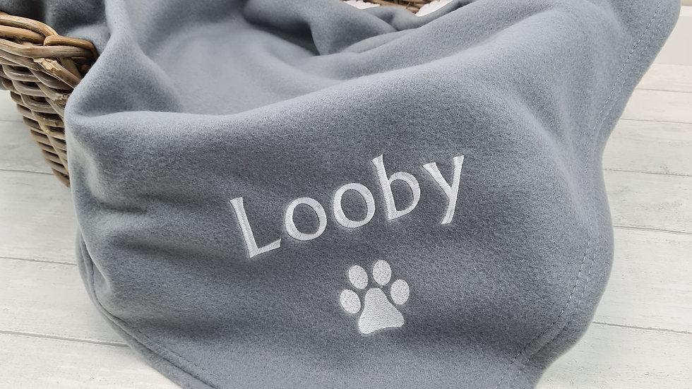 Fur Babies Large Blanket - Dark Grey