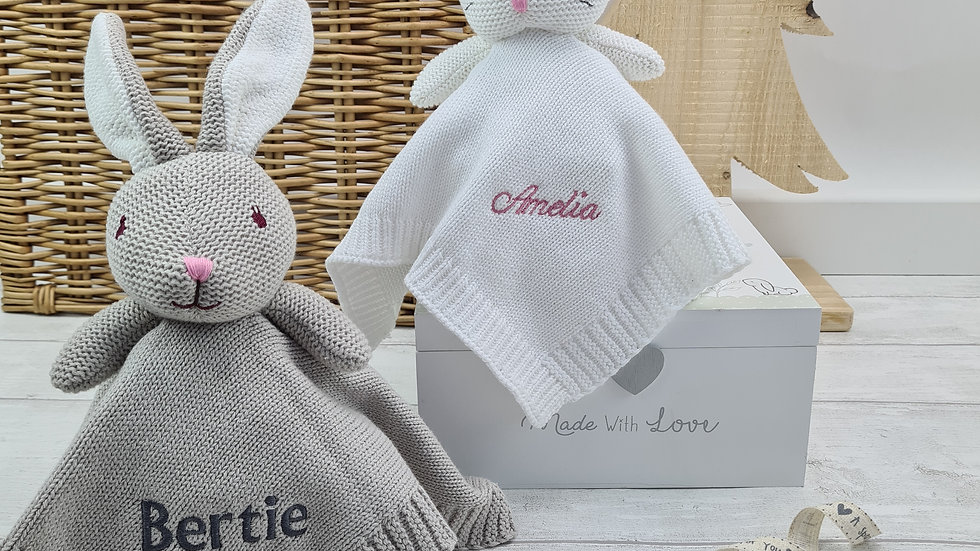 Knitted Personalised Comforter