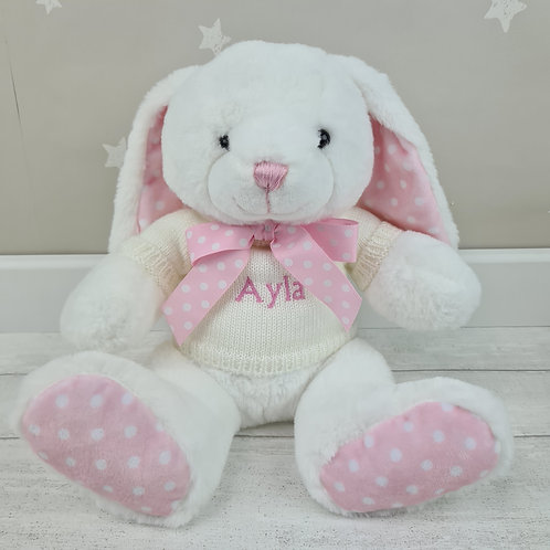 Personalised Crumble Bunny 25cm - Pink