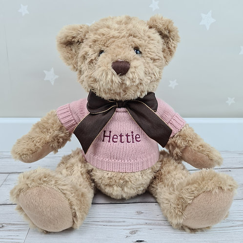 Traditional Crumble Bear 28cm - Pink
