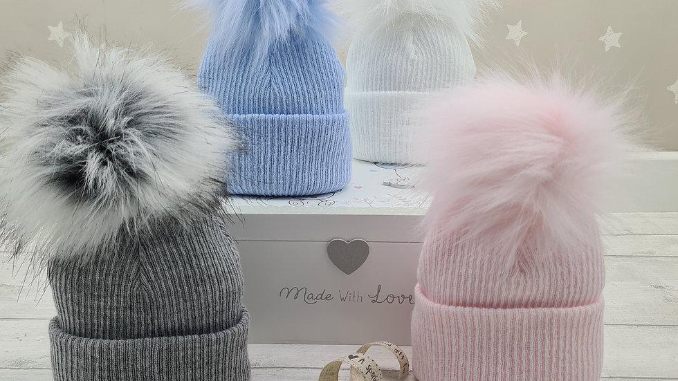 Single Pom Pom Hat