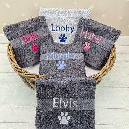 Fur Baby 100% Cotton Towel - Dark Grey