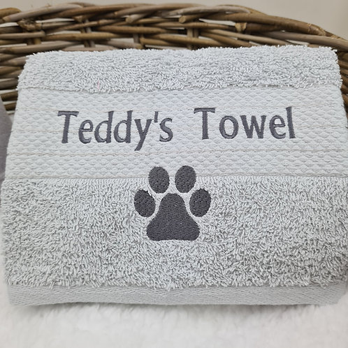 Fur Baby 100% Cotton Towel - Silver Grey