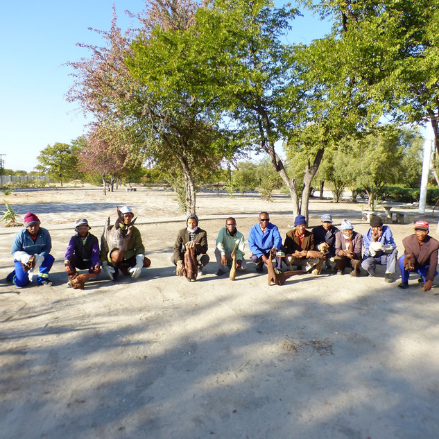 Maun - Participants in San Wood Sculptur