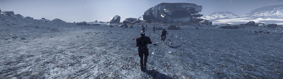 star citizen deutsch orga gameplay auf arccorp schiffswrack combat