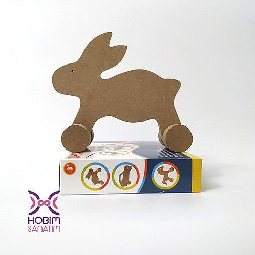 Ahşap Boyama Seti Tavşan