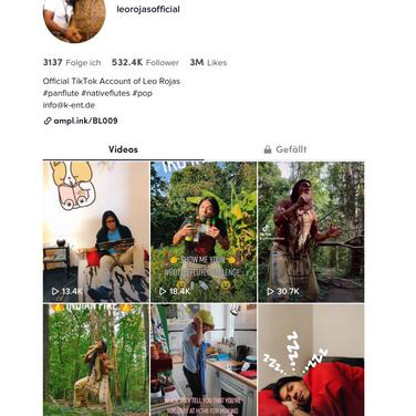 Leo Rojas erreicht 500.000 Follower bei TikTok