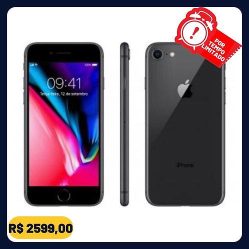 "iPhone 8 Apple 64GB Cinza Espacial 4G Tela 4,7"" - Retina Câm. 12MP + Selfie 7MP"