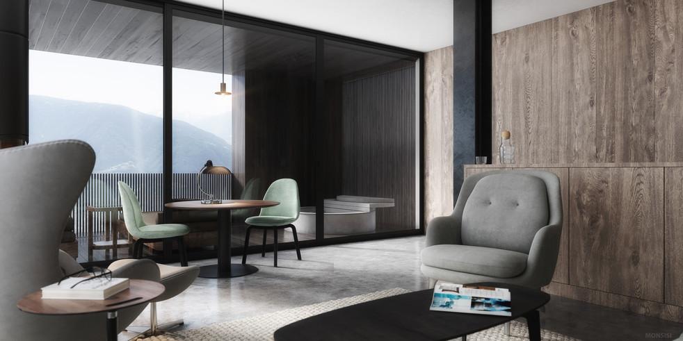 boutique hotel miramonti hotel 3d visual