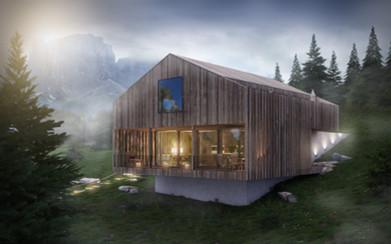 Chalet Gadertal 3d Hotel  Visualisierung