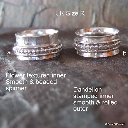 Spinner ring - size R
