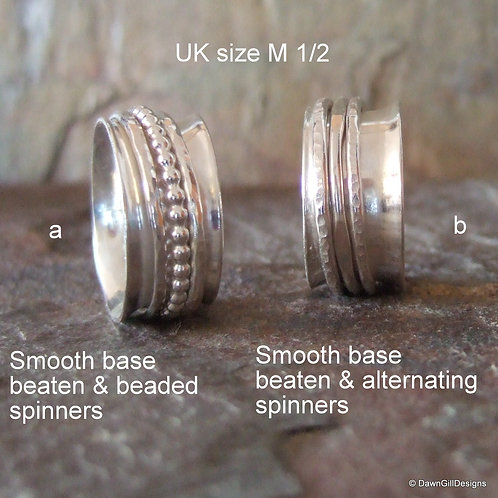 Spinner ring, size M 1/2