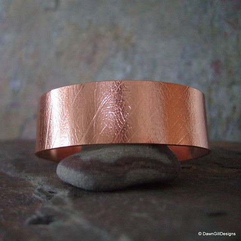 Copper Cuff - leaf