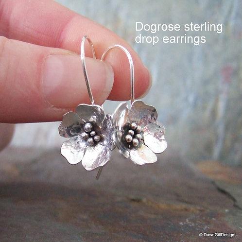 Dogrose drop earrings
