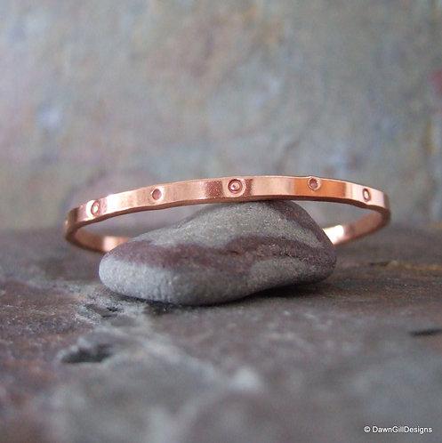 Copper Cuff - stamped