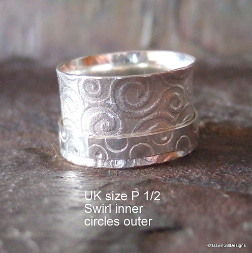 Lightweight spinner ring - size P 1/2