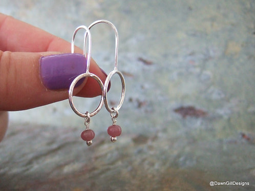 Hoop Drops - Pink Sapphire