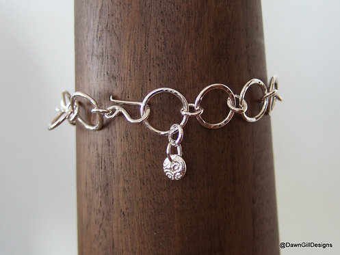 Handmade, chain style bracelet 'Barb'