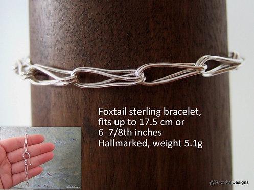 Foxtail chain bracelet