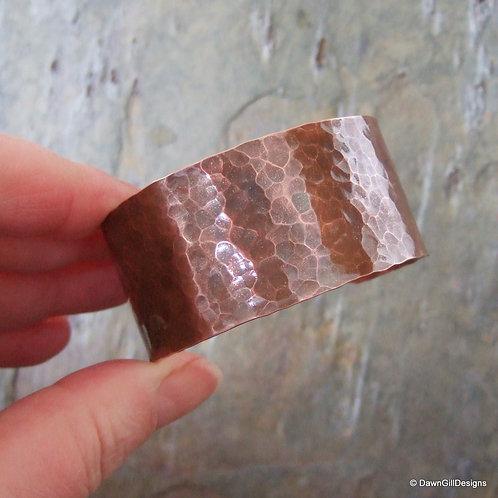 Beaten Copper Cuff - classic